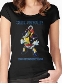 Chill Penguin Women's Fitted Scoop T-Shirt