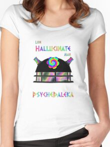 PsycheDaleka Head - Psychedelic Dalek! Women's Fitted Scoop T-Shirt