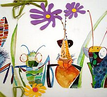 insects watercolor by artjeantet