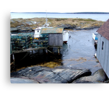 Tiny Harbour at Blue Rocks(1) Canvas Print