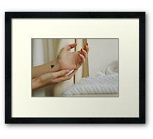 Wrists, triangles and symbolism Framed Print