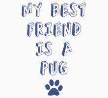 my best friend is a pug!! by Luckythelab