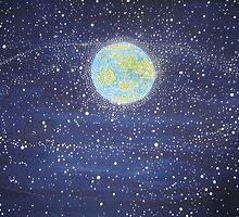 13,000 satelites orbiting earth 2008 by Lorna  Masters