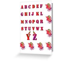 A-B-C-D/  Art + Products Design  Greeting Card