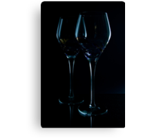 Glassy Silhouette 4 Canvas Print