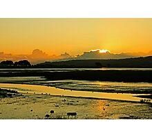 January Baldoyle Estuary Sunrise Photographic Print
