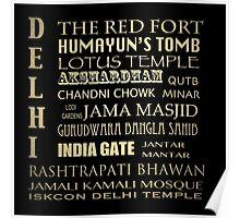 Delhi Famous Landmarks Poster