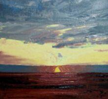 Magdalen Sunset Sticker