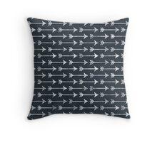 Chalkboard Black and White Tribal Arrow Pattern Throw Pillow