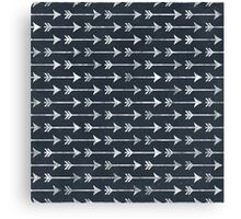 Chalkboard Arrow Pattern - Black and White Tribal Canvas Print