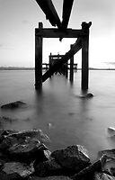 Aberdour Pier B&W by Claire Tennant