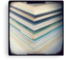 Blue chevrons Canvas Print