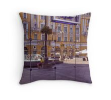 Reflected Street Life Throw Pillow