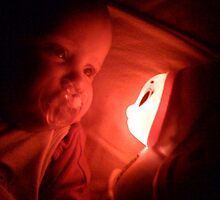 Glowworm and my niece by Andy  Hall