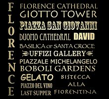Florence Famous Landmarks by Patricia Lintner
