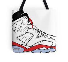 """Air Jordan VI (6) """"White Infrared"""" Tote Bag"""