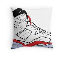 "Air Jordan VI (6) ""White Infrared"" Throw Pillow"