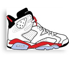 "Air Jordan VI (6) ""White Infrared"" Canvas Print"