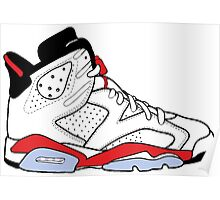 "Air Jordan VI (6) ""White Infrared"" Poster"