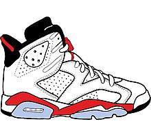 "Air Jordan VI (6) ""White Infrared"" Photographic Print"