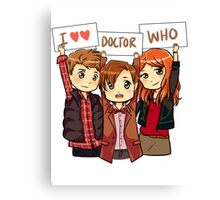 11th Doctor Squad Canvas Print