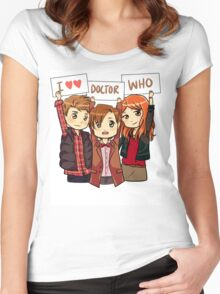 11th Doctor Squad Women's Fitted Scoop T-Shirt