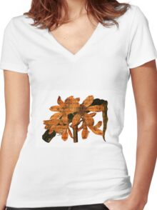 Singing Amaryllis Women's Fitted V-Neck T-Shirt
