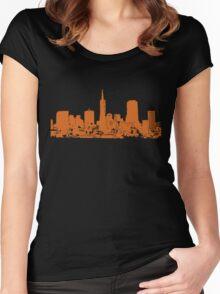 Sucka Free Orange! Women's Fitted Scoop T-Shirt