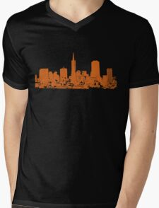 Sucka Free Orange! Mens V-Neck T-Shirt