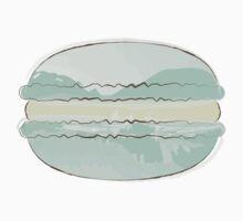 Mint Macaron Sticker - Pastel Macaroon by StickerStore