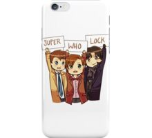 Chibi SuperWhoLock iPhone Case/Skin