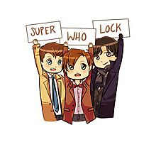 Chibi SuperWhoLock Photographic Print