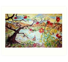 Apple Tree in the Meadow Art Print