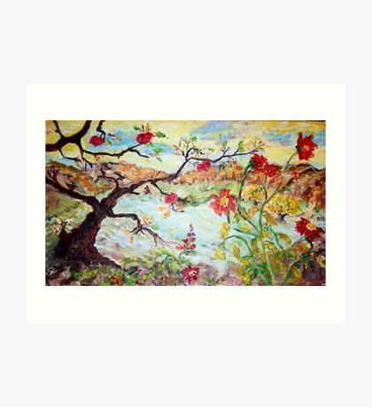Apple Tree in the Meadow Art Print