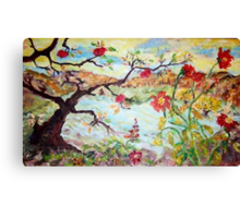 Apple Tree in the Meadow Canvas Print