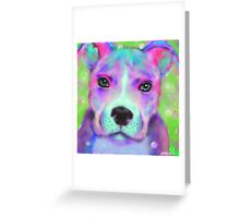 The Funky Pitbull Greeting Card