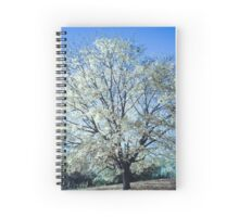 Tree of White Spiral Notebook