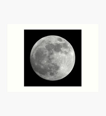 The day before full Moon Art Print