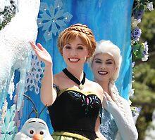 Elsa and Anna - Frozen  by lindsaythomsen
