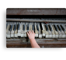 Creepy Piano Baby Canvas Print