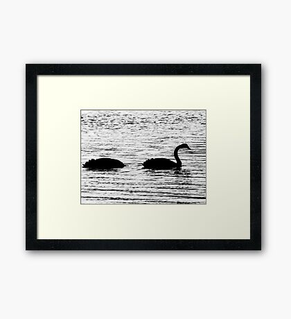 The Duckness Monster Framed Print