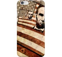 President Abraham Lincoln Patriotic Flag iPhone Case/Skin