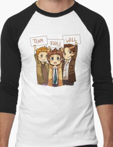 Chibi Team Free Will Ver. 2 Men's Baseball ¾ T-Shirt