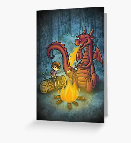 Campfire marshmallows Greeting Card