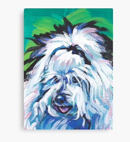 Coton de Tulear Bright colorful pop dog art Canvas Print