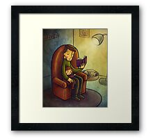 Reading stories Framed Print