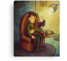 Reading stories Canvas Print