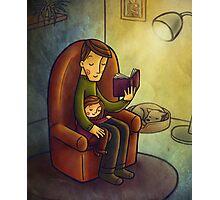 Reading stories Photographic Print