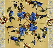 Penny Postcard Silk-Stitched by RC deWinter