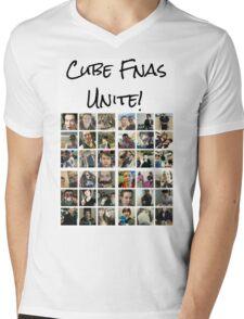 Cube Fnas Unite! Mens V-Neck T-Shirt